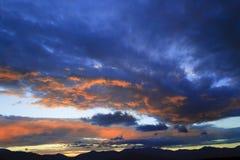 Por do sol sobre Mt. Mansfield, VT, EUA Fotografia de Stock
