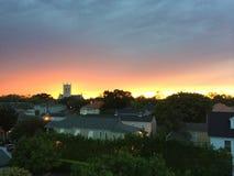 Por do sol sobre Nova Orleães imagens de stock