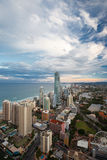 Por do sol sobre o Gold Coast Imagem de Stock