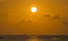 Por do sol sobre o Golfo da Tailândia Foto de Stock