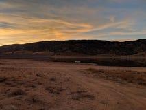 Por do sol sobre o lago Isabella Fotografia de Stock Royalty Free