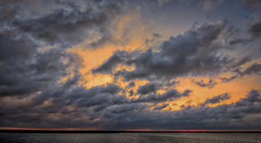 Por do sol sobre o louro de Chesapeake Fotos de Stock