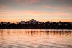 Por do sol sobre o Mar Vermelho Fotografia de Stock Royalty Free