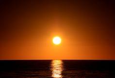Por do sol sobre o oceano. Adelaide, Austrália Imagem de Stock Royalty Free