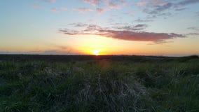 Por do sol sobre o pântano 2 Imagens de Stock Royalty Free
