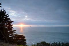 Por do sol sobre o Pacífico, San Francisco Imagens de Stock Royalty Free