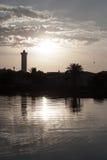 Por do sol sobre o rio de Cape Town Imagem de Stock Royalty Free