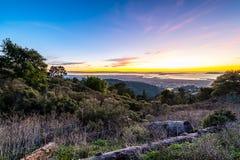 Por do sol sobre o San Francisco Bay foto de stock royalty free