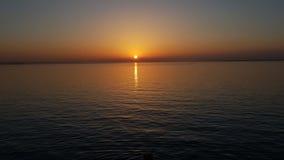 Por do sol sobre o Solent Fotografia de Stock