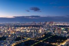 Por do sol sobre o Tóquio Fotos de Stock Royalty Free