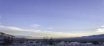 Por do sol sobre o vale Califronia de Searles Foto de Stock