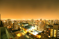 Por do sol sobre Sao Paulo Imagens de Stock Royalty Free