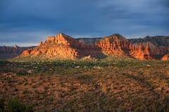 Por do sol sobre Sedona, AZ Imagem de Stock Royalty Free
