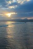 Por do sol sobre Spain fotografia de stock royalty free