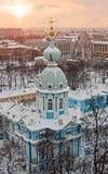 Por do sol sobre St Petersburg Fotos de Stock