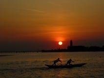 Por do sol sobre Veneza Imagens de Stock Royalty Free