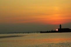Por do sol sobre Veneza Fotografia de Stock Royalty Free