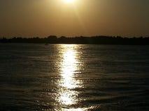 Por do sol sobre a via navegável intracostal Imagem de Stock Royalty Free