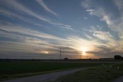 Por do sol sobre Zeeland imagens de stock royalty free