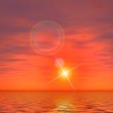 Por do sol solar Imagens de Stock