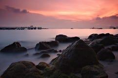 Por do sol sonhador Imagem de Stock