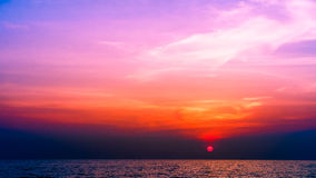 Por do sol sonhador Imagem de Stock Royalty Free