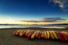 Por do sol sul de Lake Tahoe Foto de Stock