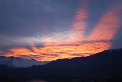 Por do sol surpreendente Foto de Stock Royalty Free