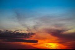 Por do sol surpreendente Imagem de Stock