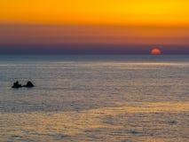 Por do sol surpreendente Imagens de Stock Royalty Free