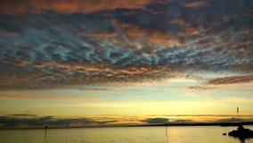 Por do sol surpreendente, neagh do lough Imagem de Stock