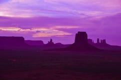 Por do sol surpreendente no vale do monumento Foto de Stock