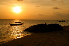 Por do sol tailandês Fotografia de Stock