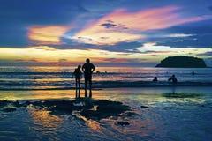 Por do sol tailandês Imagens de Stock
