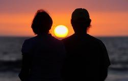 Por do sol temperamental Fotografia de Stock