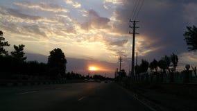 Por do sol Tempo Imagens de Stock