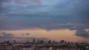 Por do sol Timelapse da cidade de Durban video estoque