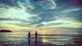 Por do sol TimeLapse de Prajuabkirikhun video estoque