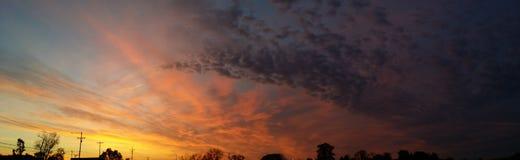 Por do sol Tn Fotografia de Stock