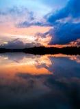 Por do sol tormentoso Imagem de Stock Royalty Free