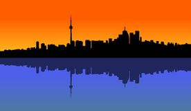 Por do sol Toronto Imagem de Stock Royalty Free