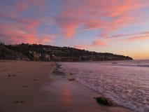 Por do sol, Torrance Beach, Los Angeles, Califórnia Foto de Stock Royalty Free