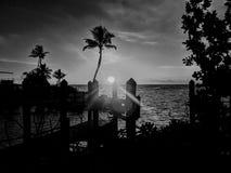 Por do sol tropical de Florida foto de stock