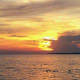 Por do sol do Ugandan Foto de Stock