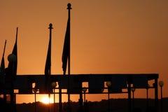 Por do sol um malta Imagens de Stock