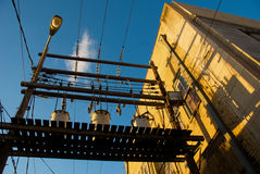 Por do sol urbano Fotos de Stock