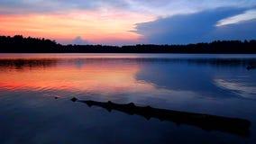 Por do sol Wisconsin do lago buffalo vídeos de arquivo