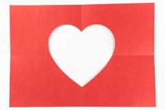 2 por el corazón de 2 blancos Foto de archivo libre de regalías