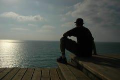 Por el mar Foto de archivo