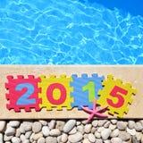 2015 por el poolside Fotos de archivo